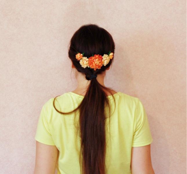 Comb With Peach Peonies Buy. FLOWERRINA (flowerina). My Livemaster
