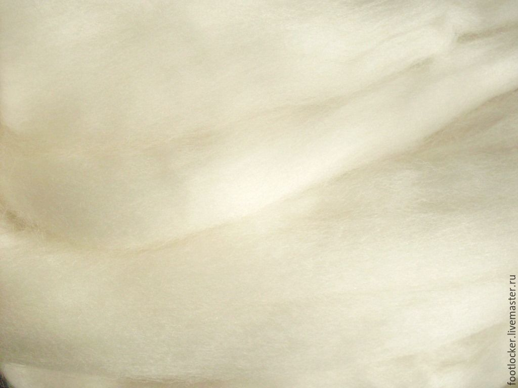 Валяние ручной работы. Ярмарка Мастеров - ручная работа. Купить 21 мкр, Австралийский меринос для валяния, нат. белый, цена за 50 гр. Handmade.