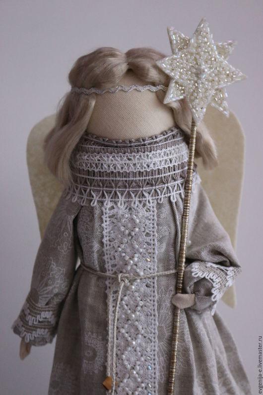 """Народные куклы ручной работы. Ярмарка Мастеров - ручная работа. Купить """"Рождественский ангел"""" кукла-образ.... Handmade. Серый"""