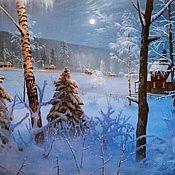 Картины и панно handmade. Livemaster - original item Author`s painting the Christmas. Handmade.