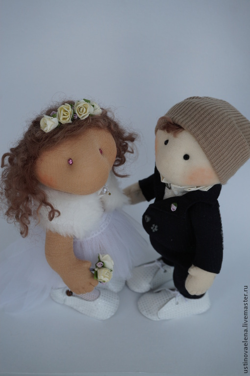 Коллекционные куклы ручной работы. Ярмарка Мастеров - ручная работа. Купить Куклы жених и невеста. Handmade. Белый, свадебный подарок