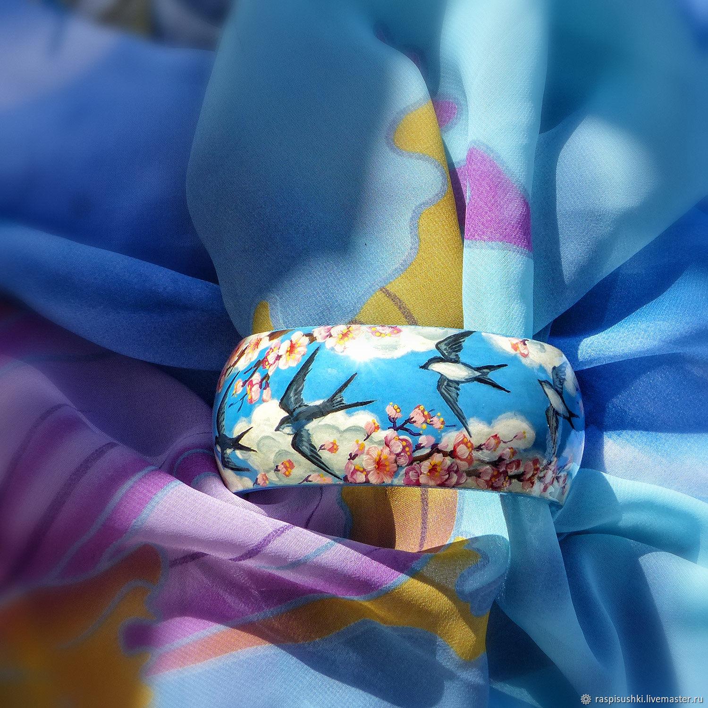 Браслет Майские ласточки, Браслет жесткий, Санкт-Петербург,  Фото №1