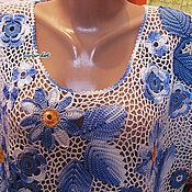 Одежда ручной работы. Ярмарка Мастеров - ручная работа Бело-голубая - 2. Handmade.