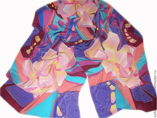 """Шарфы и шарфики ручной работы. Ярмарка Мастеров - ручная работа. Купить шарф """"Каменный цветок 2"""". Handmade. Орнамент, цветы"""