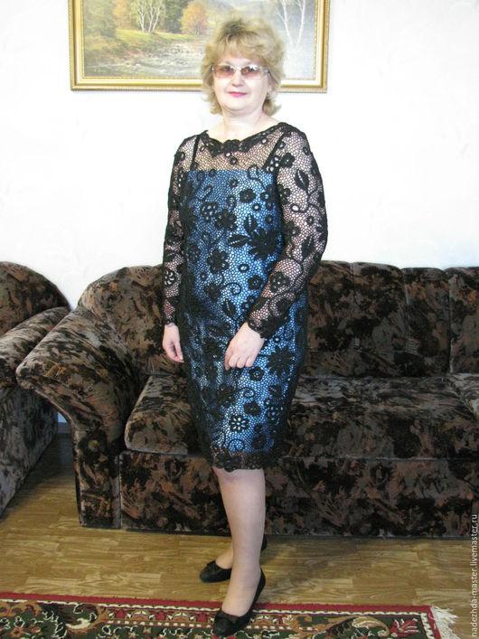 """Платья ручной работы. Ярмарка Мастеров - ручная работа. Купить Платье """"Черный Тюльпан"""", платье вечернее. Handmade. Черный"""