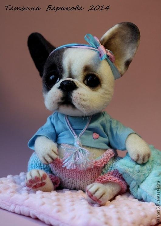 """Куклы и игрушки ручной работы. Ярмарка Мастеров - ручная работа. Купить """"Сессиль"""". Handmade. Собака игрушка, авторская игрушка"""
