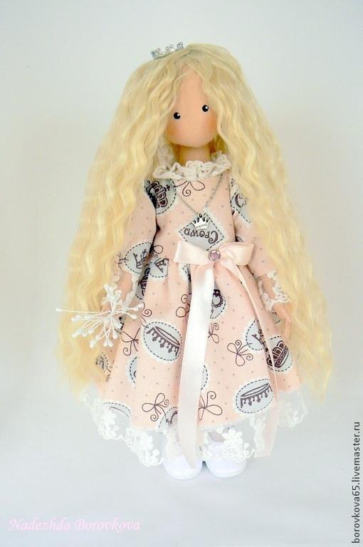 Коллекционные куклы ручной работы. Ярмарка Мастеров - ручная работа. Купить Маленькая принцесса. Handmade. Розовый, подарок девушке, трессы