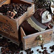 Для дома и интерьера ручной работы. Ярмарка Мастеров - ручная работа «Caffe Italia» Мини-комодик для кофе с мешочком. Handmade.