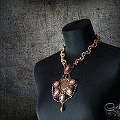 Украшения handmade. Livemaster - original item Necklace with matte crystals and pearls Swarovski. Handmade.