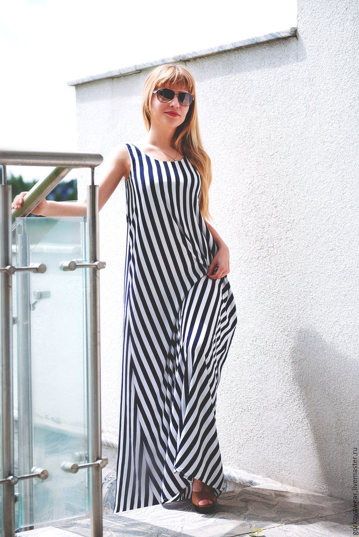 ed92cb290249 Летнее платье в полоску – купить в интернет-магазине на Ярмарке Мастеров с  ...