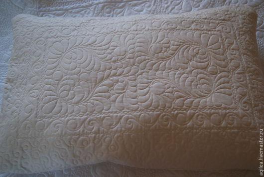 Текстиль, ковры ручной работы. Ярмарка Мастеров - ручная работа. Купить Подушки. Handmade. Бежевый, наволочка пэчворк