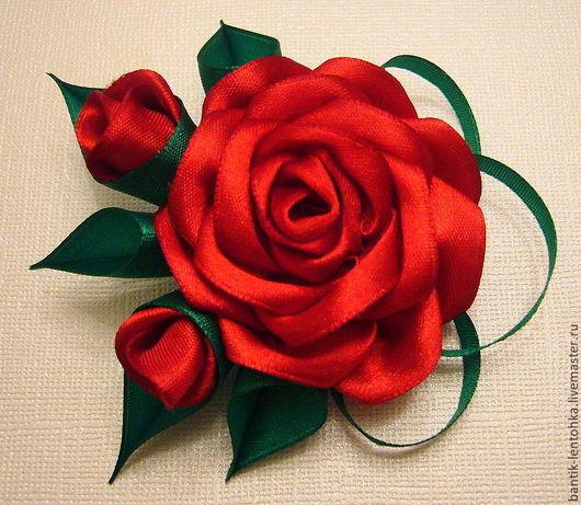 """Броши ручной работы. Ярмарка Мастеров - ручная работа. Купить Брошь """"Букет красных роз"""". Handmade. Ярко-красный, украшение"""