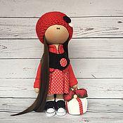 """Куклы и игрушки ручной работы. Ярмарка Мастеров - ручная работа Текстильная кукла """"Lady in Red"""". Handmade."""