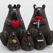 Куклы и игрушки ручной работы. Ярмарка Мастеров - ручная работа Медведи большие и малые. Handmade.