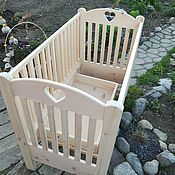 Для дома и интерьера handmade. Livemaster - original item Bed: Baby cot from solid cedar a Healthy baby. Handmade.