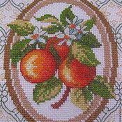 """Картины и панно ручной работы. Ярмарка Мастеров - ручная работа """"Апельсинки"""" вышивка. Handmade."""