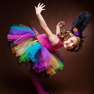 """Одежда для девочек, ручной работы. Ярмарка Мастеров - ручная работа. Купить """"Веселая карусель"""" пышная юбка-пачка из фатина. Handmade."""