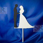 """Свадебный салон ручной работы. Ярмарка Мастеров - ручная работа Топпер для торта """"Жених и Невеста"""". Handmade."""
