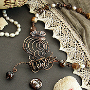 Украшения handmade. Livemaster - original item Copper necklace