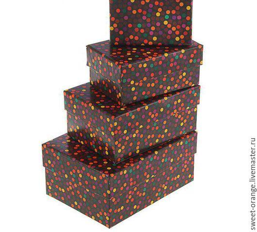 """Подарочная упаковка ручной работы. Ярмарка Мастеров - ручная работа. Купить Коробка """"Ночной город"""" и др.. Handmade. Коричневый, подарок"""