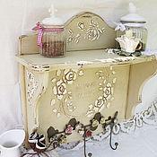 Для дома и интерьера handmade. Livemaster - original item Shelf author in the style of Provence
