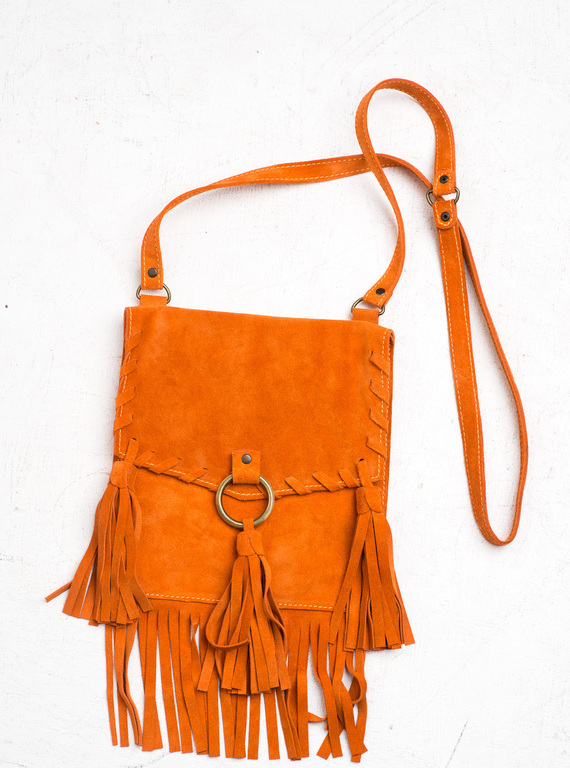 Этнические сумки с кисточками