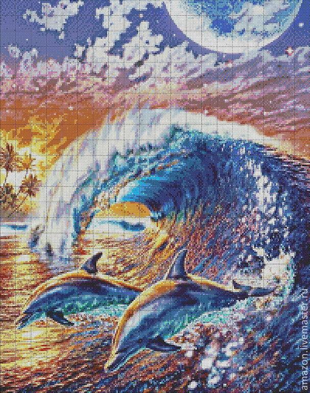 Наборы для вышивки с дельфинами