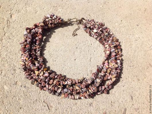 """Колье, бусы ручной работы. Ярмарка Мастеров - ручная работа. Купить Колье """"Пески пустыни"""". Handmade. Разноцветный, натуральные камни"""
