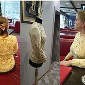 Одежда ручной работы. Ярмарка Мастеров - ручная работа Джемпер Ажурные Листочки. Handmade.