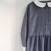 Одежда ручной работы. Ярмарка Мастеров - ручная работа Платье льняное с воротничком. Handmade.