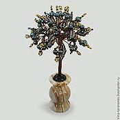 Цветы и флористика handmade. Livemaster - original item The tree of life of black pearls in a vase of onyx. Handmade.