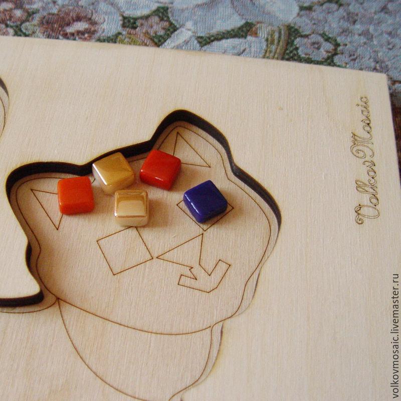 Деревянная заготовка «Подставка под горячее Кот Домино»
