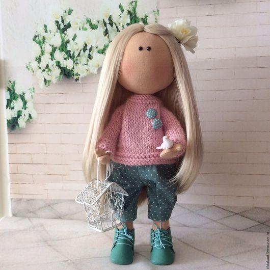 Куклы тыквоголовки ручной работы. Ярмарка Мастеров - ручная работа. Купить Анфиса. Handmade. Комбинированный, кукла, трикотажное полотно