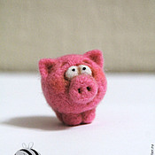 Куклы и игрушки ручной работы. Ярмарка Мастеров - ручная работа Миниатюрные зверюшки, хрюшки, барашки и пчёлки. Handmade.