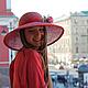"""Шляпы ручной работы. Соломенная шляпа """"Un jour d'ete"""" (Летний день). Наталья Прокофьева (la-magie-spb). Ярмарка Мастеров."""