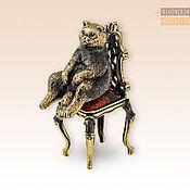 Модели ручной работы. Ярмарка Мастеров - ручная работа Кот в раздумьях на стуле. Handmade.
