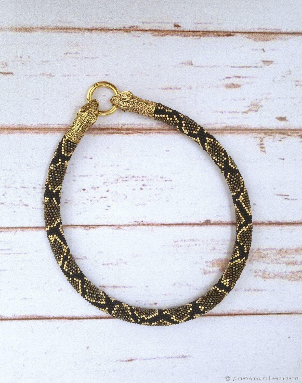 Bead harness 'Python», Necklace, Abakan,  Фото №1