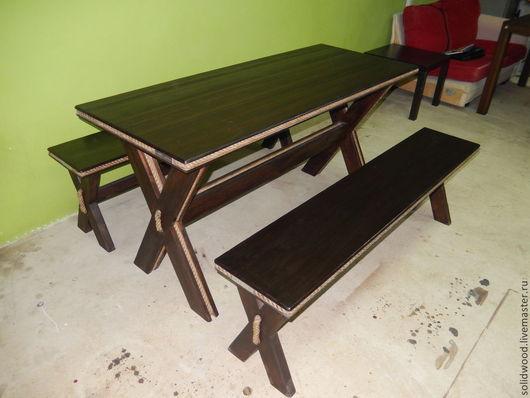 """Мебель ручной работы. Ярмарка Мастеров - ручная работа. Купить стол """"Пират"""". Handmade. Столик, мебель для дачи, лавка, лак"""