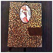 """Канцелярские товары ручной работы. Ярмарка Мастеров - ручная работа блокнот """"Африка"""". Handmade."""