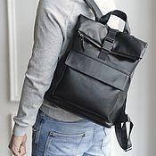 handmade. Livemaster - original item Backpack leather male