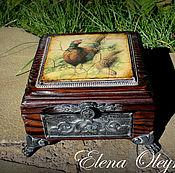 Для дома и интерьера ручной работы. Ярмарка Мастеров - ручная работа шкатулка Фазаны. Handmade.