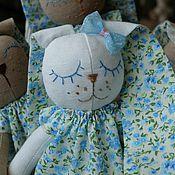 Куклы и игрушки ручной работы. Ярмарка Мастеров - ручная работа Текстильный зайка-сплюшка. Handmade.