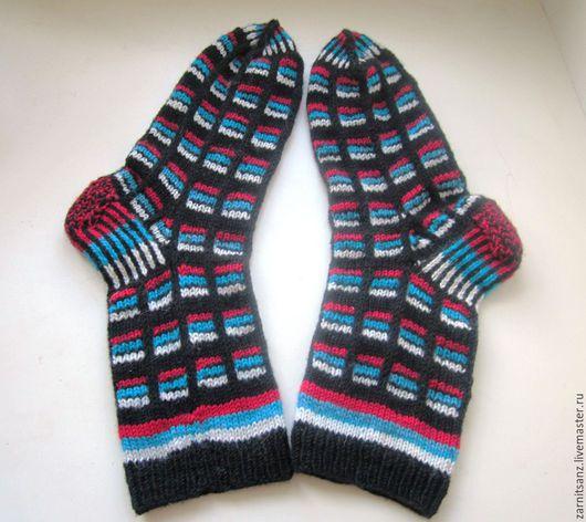 Носки, Чулки ручной работы. Ярмарка Мастеров - ручная работа. Купить подарок мужчине на 23 носки Триколор шерстяные. Handmade.