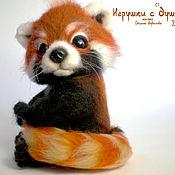 Куклы и игрушки ручной работы. Ярмарка Мастеров - ручная работа Красная панда, валяная игрушка. Handmade.
