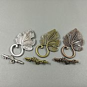 Материалы для творчества handmade. Livemaster - original item Lock - toggle Grape leaf in stock (REF. 471). Handmade.