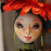 Куклы и игрушки ручной работы. Ярмарка Мастеров - ручная работа Интерьерная кукла Гербера.. Handmade.