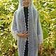 Outer Clothing handmade. 8 coat handmade duvet, outerwear, knitted. Nadegda , pukhovyy platok. Online shopping on My Livemaster.