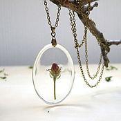 Украшения handmade. Livemaster - original item Pendant with Real flower with Apple blossom Botany Forest Fairy No. №6. Handmade.