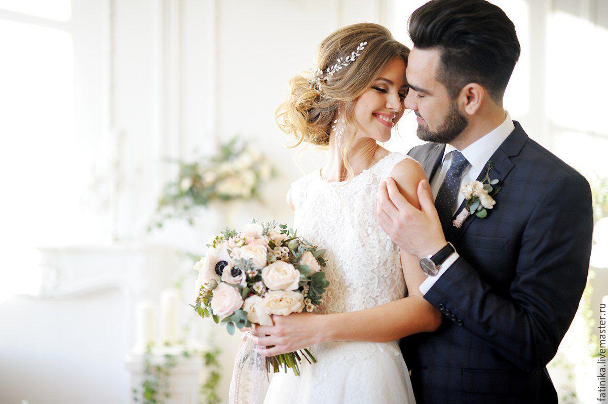 Длинные серьги для невесты