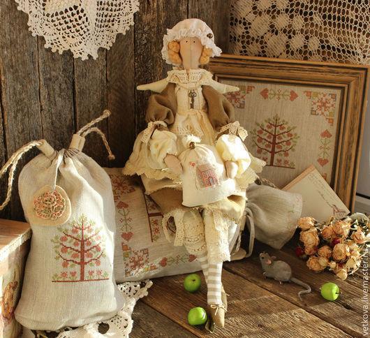 Куклы Тильды ручной работы. Ярмарка Мастеров - ручная работа. Купить интерьерная текстильная кукла Ангел вашего дома. Handmade.